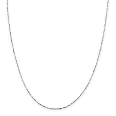 - Sterling Silver 1mm Twisted Serpentine Chain