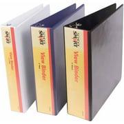 """School Smart Vinyl View Binder, 3"""", Multiple Colors"""