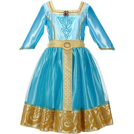 Disney Brave Merida Royal Dress Child Costume - Merida Brave Costume For Adults