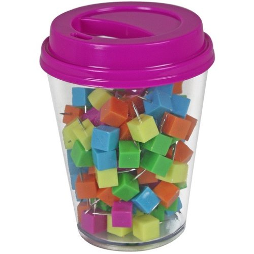 Coffee Cup Storage With Push Pins, 120pk, Assorted