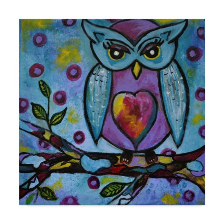 Trademark Fine Art 'Owl Orig Usa' Canvas Art by Jane Hinchliffe (Fine Art Oil)