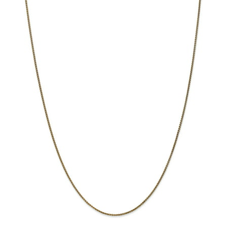 14k Yellow Gold Sun Charm (14k Yellow Gold 1.2mm Spiga Chain Necklace 18 Inch Pendant Charm Wheat Gifts For Women For Her )