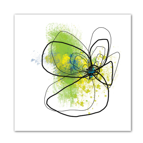 ArtWall 'Citron Petals ' by Jan Weiss Graphic Art on Canvas
