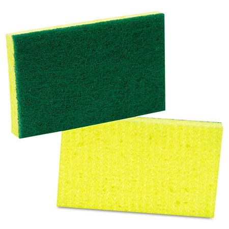 Scotch-Brite PROFESSIONAL Medium-Duty Scrubbing Sponge, 3 1/2 x 6 1/4, Yellow/Green, 20/Carton -MMM74