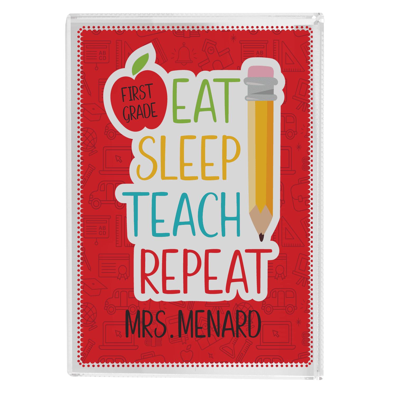 Mini metal star hanger // hanging plaque /'Sleep Party Eat Repeat/'