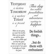 """Woodware Clear Stamps 4""""X6""""-Inspirational Verses"""