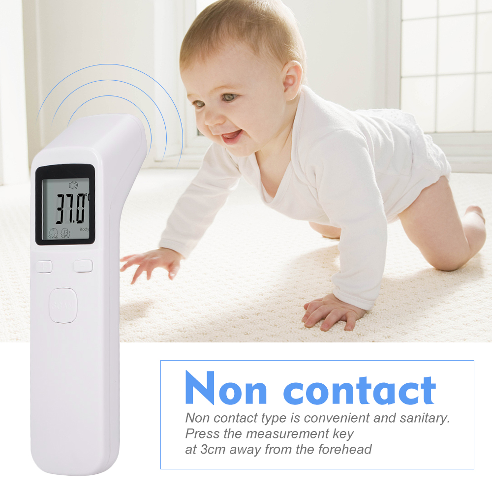 Blusea Digital Forehead Handheld Infrared Thermometer Temperature Gauge Non Contact Temperature Measurement Device High Precision ℃ and ℉ Switchable