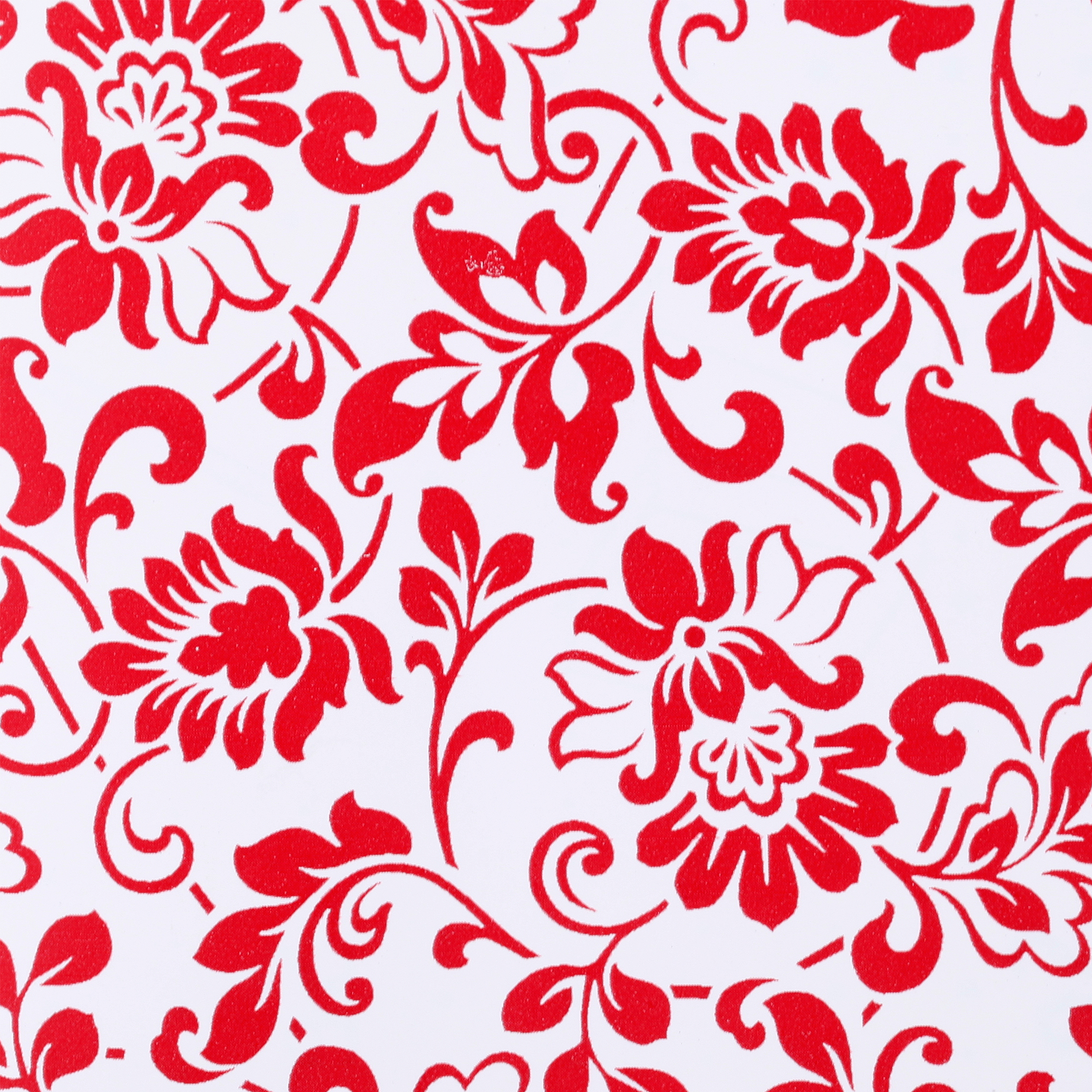 "Duck Brand Adhesive Peel and Stick Laminate, 20"" x 22', Red Floral"
