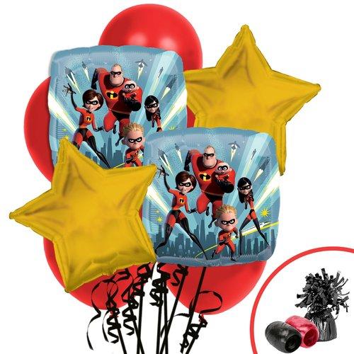 NA 13 Piece The Incredibles 2 Balloon Bouquet Plastic Disposable Centerpiece Set