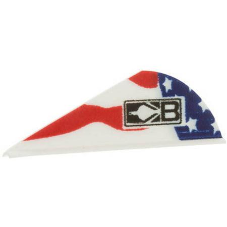 Bohning Blazer Vane, American Flag, Pack of 36, Assorted Bohning Blazer Broadhead Vanes