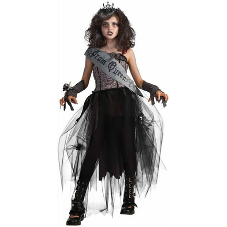 Goth Prom Queen Girls' Child Halloween - Zombie Prom Queen
