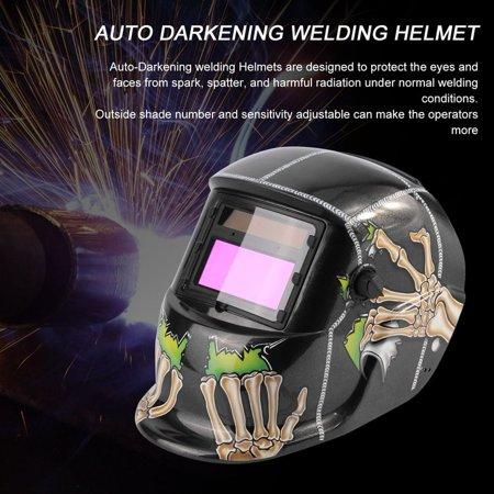 Black With Skull Solar Auto Darkening Welding Helmet Arc Tig Mig Mask Grinding Welding Mask Skull