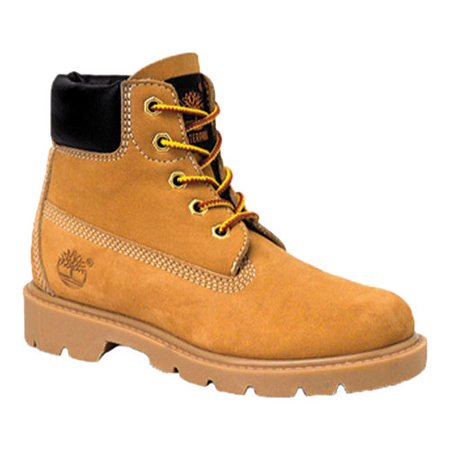 Timberland Children's 6 Inch Classic Boot Youth 3 Eye Shoes Boots