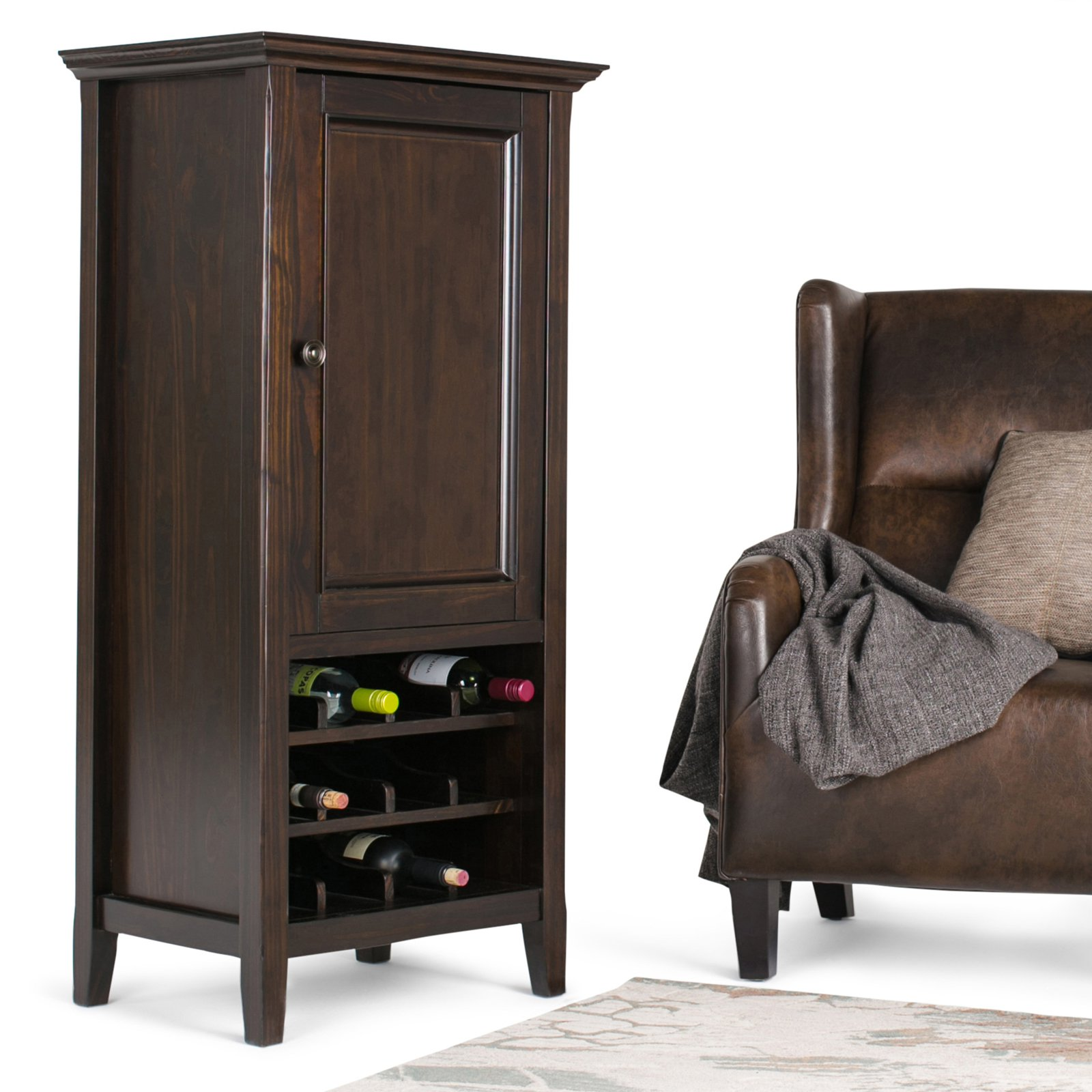 Simpli Home Amherst High Storage Wine Rack by CCT Global Sourcing Inc