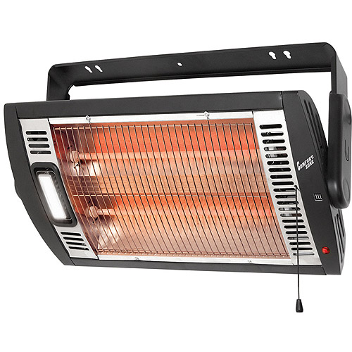 Comfort Zone Electric Ceiling Mountec Quartz Heater with Light