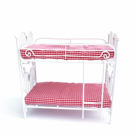 Miniature 1/12 Scale Mini Bunk Bed Double Decker Model Dollhouse Accessories Toy (Dollhouse 1 12 Scale Bedroom)