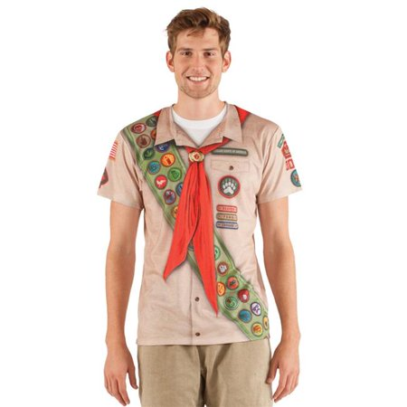 Creative Halloween Shirts (Faux Real Shirt F127708-M Mens Scout Halloween T-Shirt, Multicolor -)
