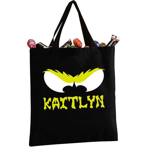 Personalized Halloween Creepy Eyes Tote Bag