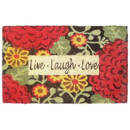 Live  Laugh  Mums Brown Doormat  25  X 16