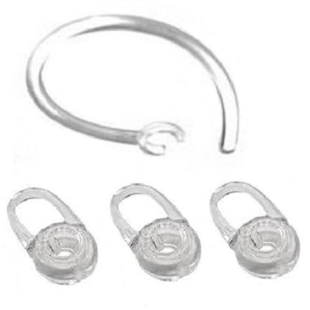 E50 Replacement (3 Replacement Eargel and 1 Earhook For Plantronics M70, M90, Voyager Edge )
