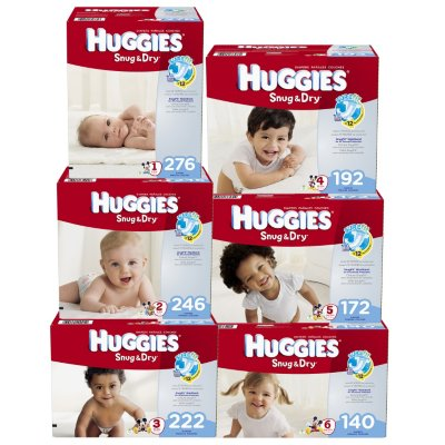 HUGGIES Snug & Dry Diapers, Size 6, 140 Diapers - Walmart.com