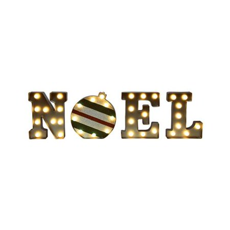 Mr Christmas 60321 Christmas Decoration, Illuminated Noel Marquee, Plastic, Indoor/Outdoor, 9-In. (Le Noel De Mr Jack Halloween)