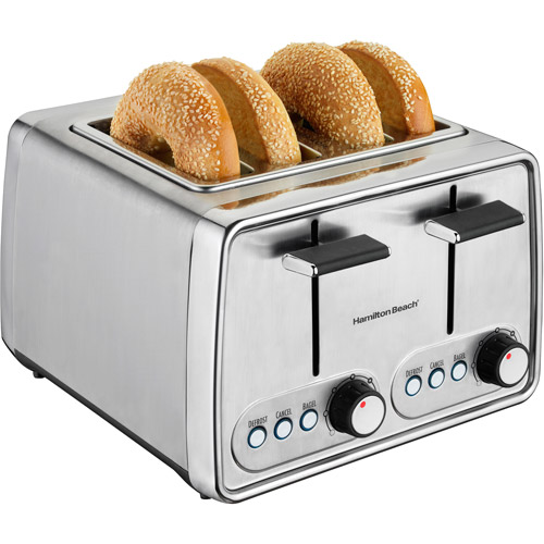 Hamilton Beach Modern Chrome 4 Slice Toaster   Model# 24791