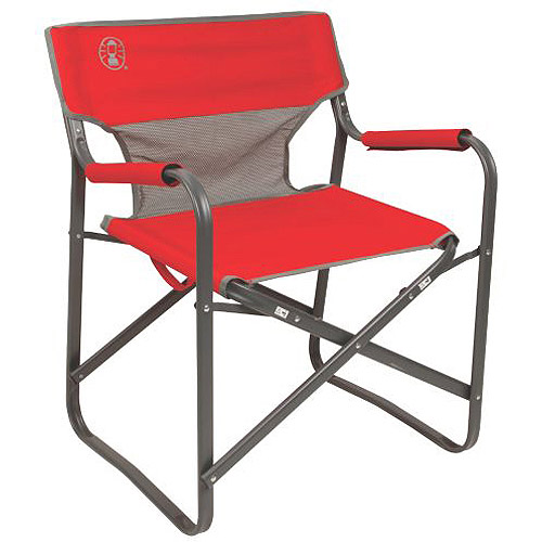 Coleman Steel Deck Chair Red