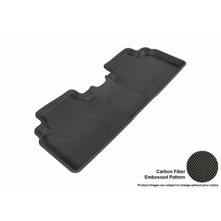 3D MAXpider 2006-2011 Honda Civic Sedan Second Row All Weather Floor Liner in Black with Carbon Fiber Look
