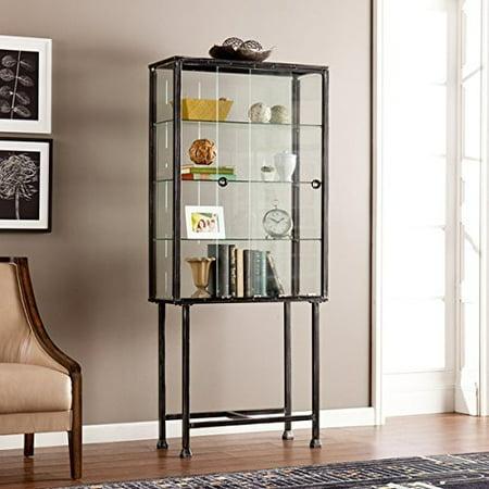 Media Bookshelves Display Cabinet Contemporary Modern Metal Glass