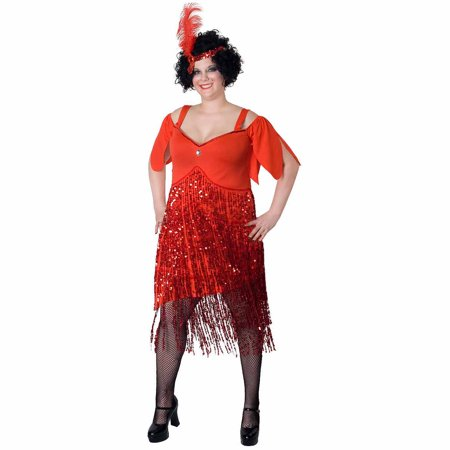 Lava Diva Flapper Women's Plus Size Adult Halloween - Flapper Halloween Costume Plus Size