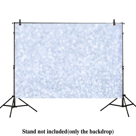 GreenDecor Polyster 7x5ft photography backdrops Valentines white silver Blurred circle dots christmas bokeh Overlay Newborn Floordrop props photo studio booth background baby shower photocall ()