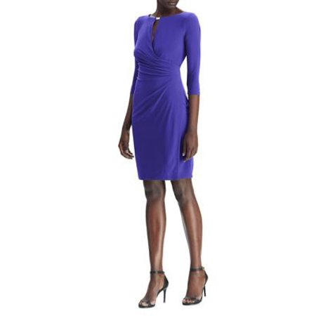 Lauren by Ralph Lauren Women's Keyhole Faux-Wrap Dress