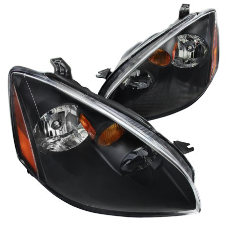 Spec-D Tuning For 2002-2004 Nissan Altima Jdm Black Clear Headlights W/ Amber Reflector 2002 2003 2004