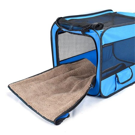 Meigar Pet Carrier airline approved Portable Cats Travel Vet Cage Foldable Outdoor Car Kennel for Cat Small Dogs