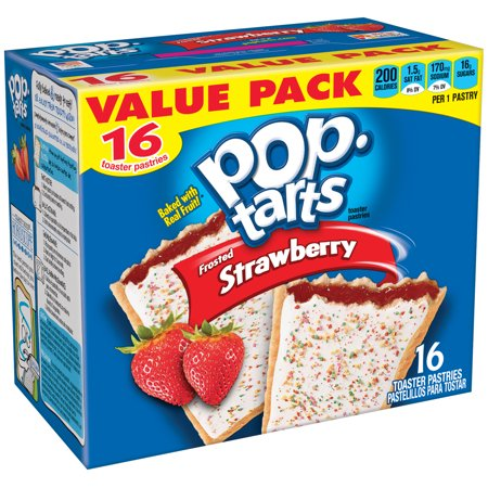 Kelloggs Pop Tarts Frosted Strawberry Toaster Pastries  16 Ct 29 3 Oz