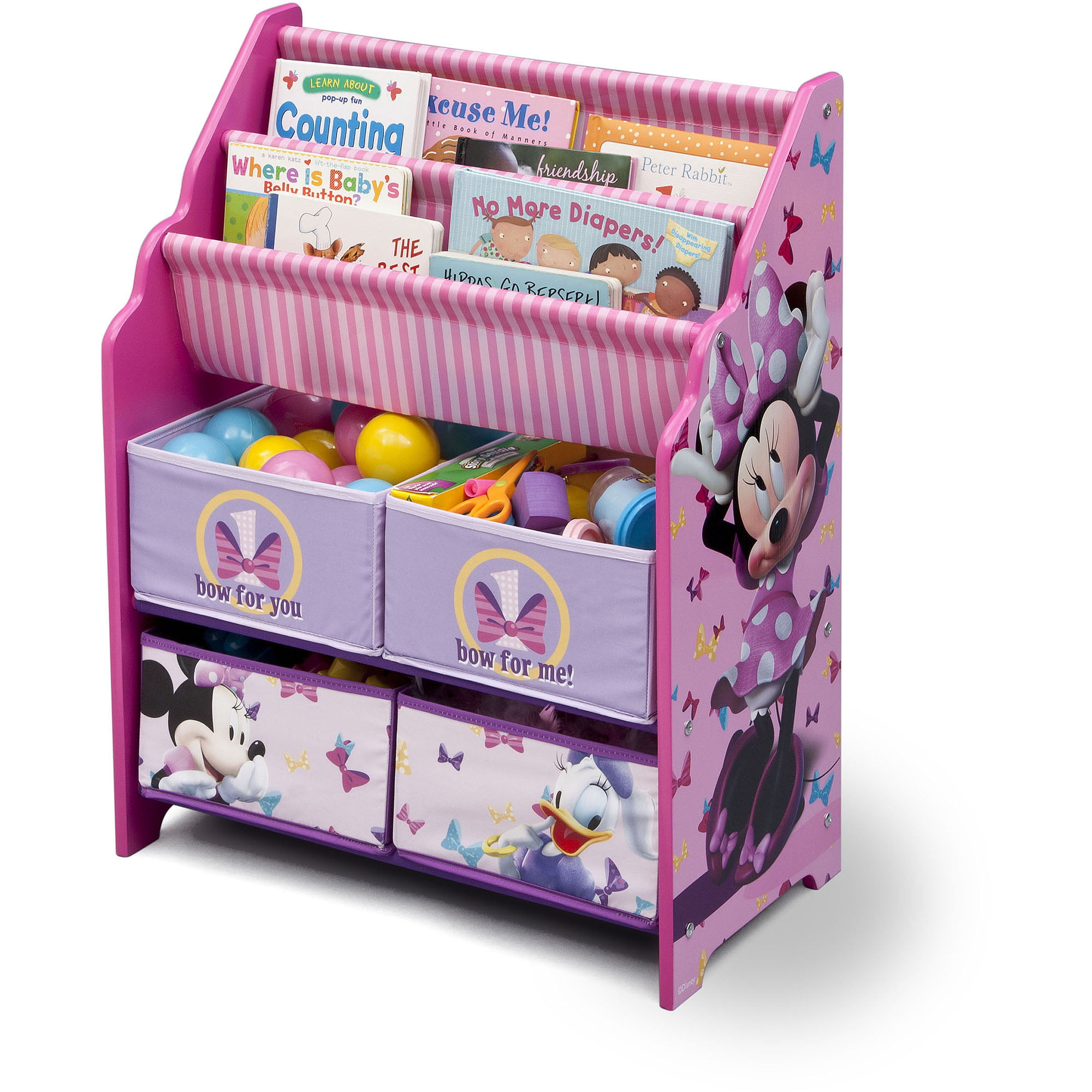 Minnie mouse bookcase best home design 2018 for Toy and book storage
