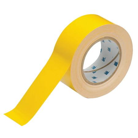 Yellow Aisle Marking Tape - Brady ToughStripe Floor Marking Tape, 2 in x 100 ft, Yellow