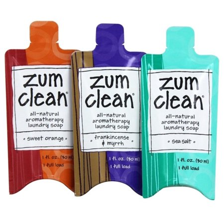 Clean Aromatherapy Laundry Soap Gift Pack 3-Loads By Zum - Walmart com