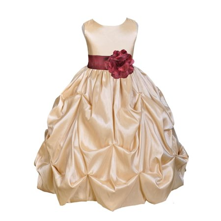 4cffb33f28b Ekidsbridal Taffeta Bubble Pick-up Champagne Flower Girl Dress Weddings  Summer Easter Special Occasions Pageant Toddler Birthday Party Holiday  Bridal ...