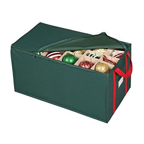 Holiday Green 54 Compartment Ornament Organizer Chest