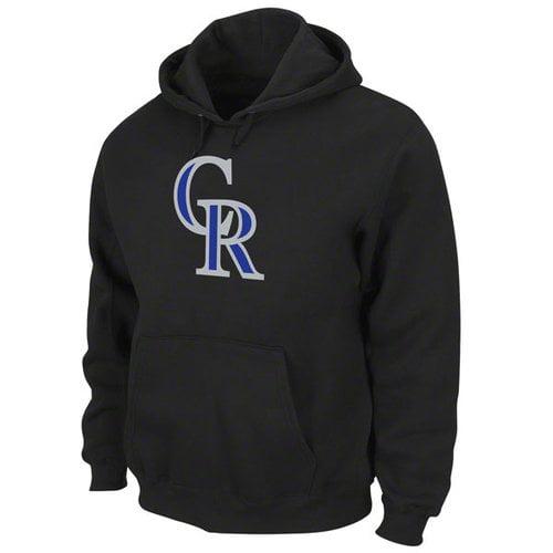 MLB - Colorado Rockies Black Tek Patch Hooded Sweatshirt