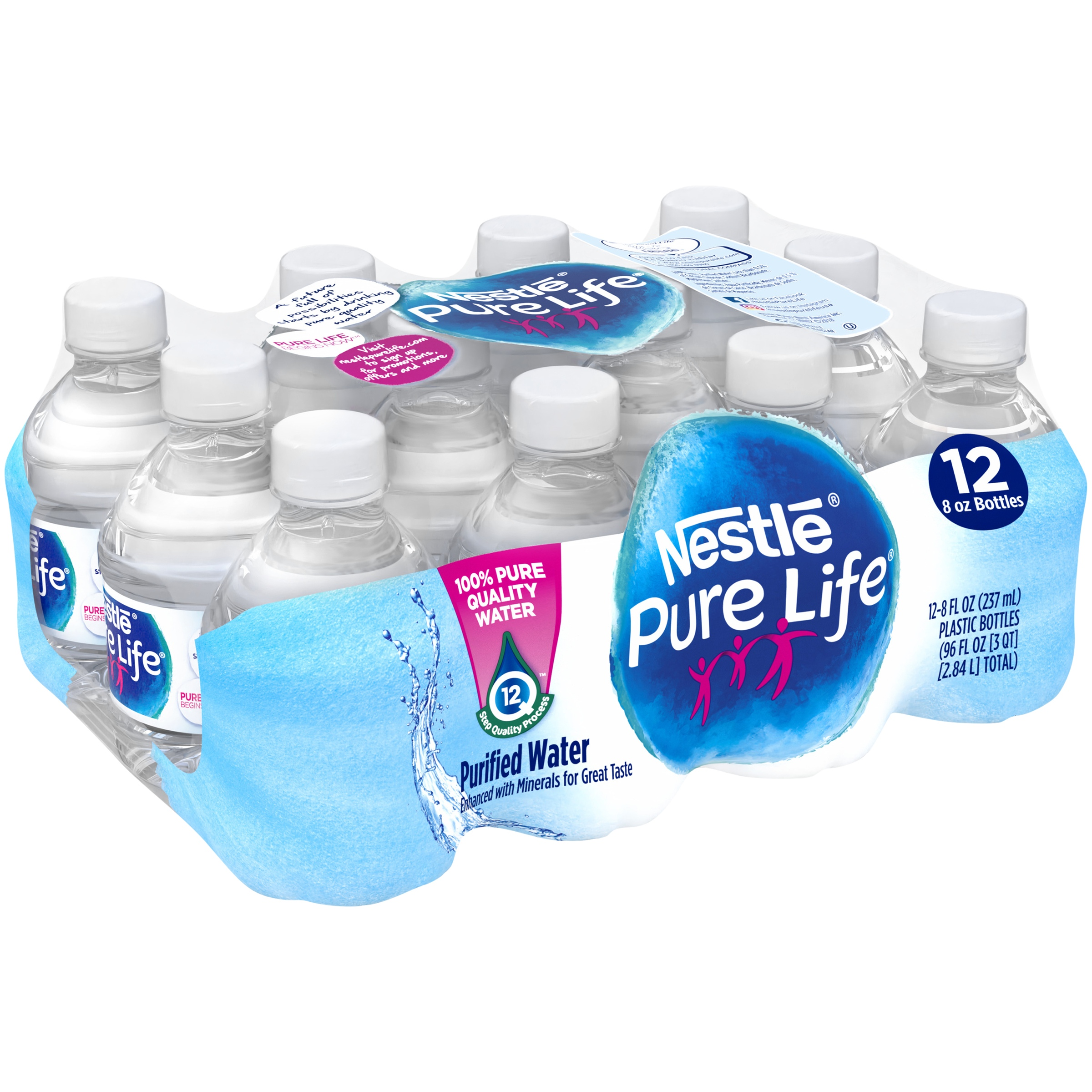 53f5d5f155 Nestle Pure Life Purified Water, 8 Fl. Oz., 12 Count - Walmart.com