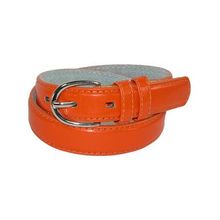 Kid's Leather 1 inch Basic Dress Belt ()