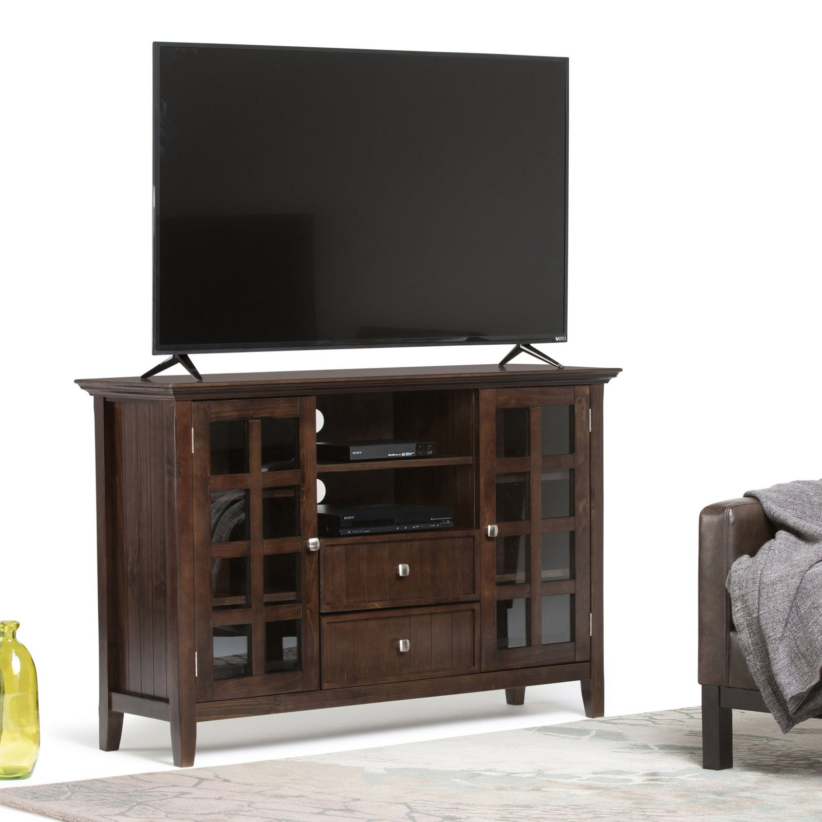 Simpli Home Acadian Tall TV Media Stand