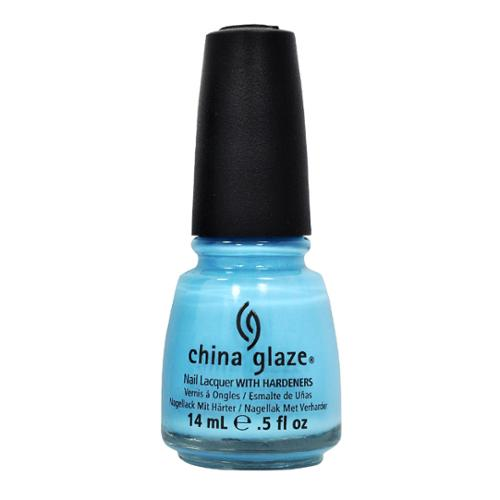 China Glaze 0.5oz Nail Polish Lacquer Clay Blue, BAHAMIAN ESCAPE, 80875