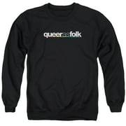 Queer As Folk Logo Mens Crewneck Sweatshirt