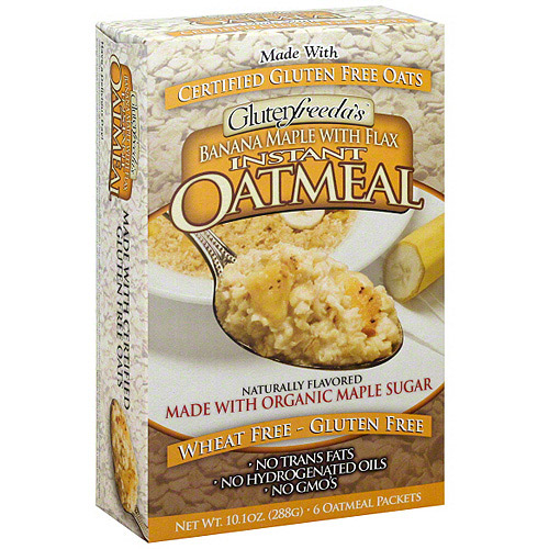 Glutenfreeda Banana Maple Instant Oatmeal With Flax, 10.1 oz, 6ct (Pack of 8)