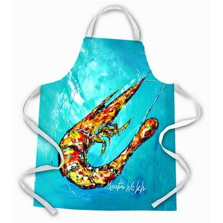 Carolines Treasures MW1242APRON All That Jazz Teal Shrimp Apron - image 1 of 1