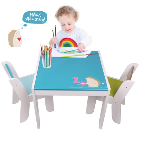 Magnificent Labebe Wooden Activity Table Chair Set Blue Hedgehog Toddler Table For 1 5 Years Baby Table Toy Table Baby Room Table Learning Table Cover Kid Theyellowbook Wood Chair Design Ideas Theyellowbookinfo